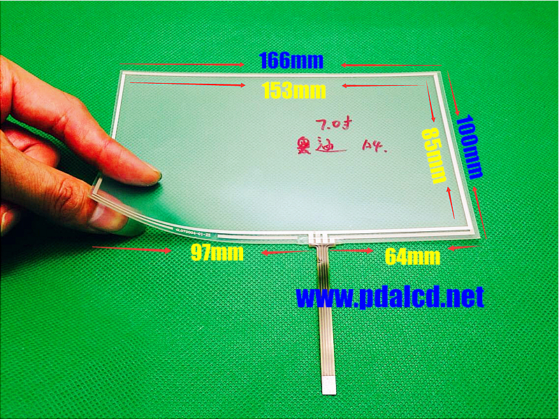 TOUCH For Audi A4 7 inch 166mm*100mm 165mm*100mm 4 wire Resistive Touch screen digitizer panels CAR GPS Navigation Touch Screen<br><br>Aliexpress