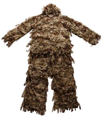 3-D Premium Hunting Net Camo Suit Double The Leaf Size M/L Ghillie Suit