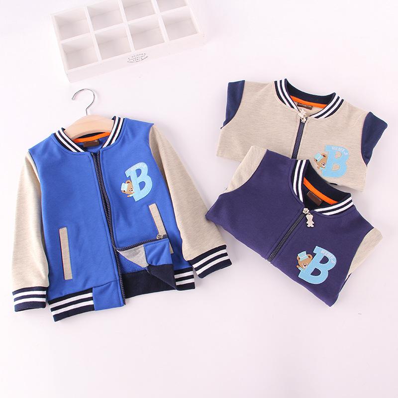 Spring of 2016 children coat jacket in embroidery alphabet boys baseball uniform colour patchwork children coat<br><br>Aliexpress