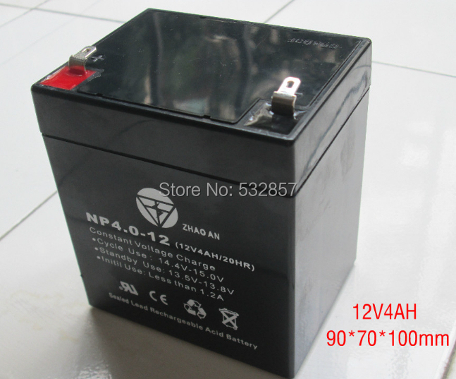 90X70X100mm 12V 4AH 20hr maintenance-free lead acid battery agm battery solar battery accumulator 12v battery for ups<br><br>Aliexpress