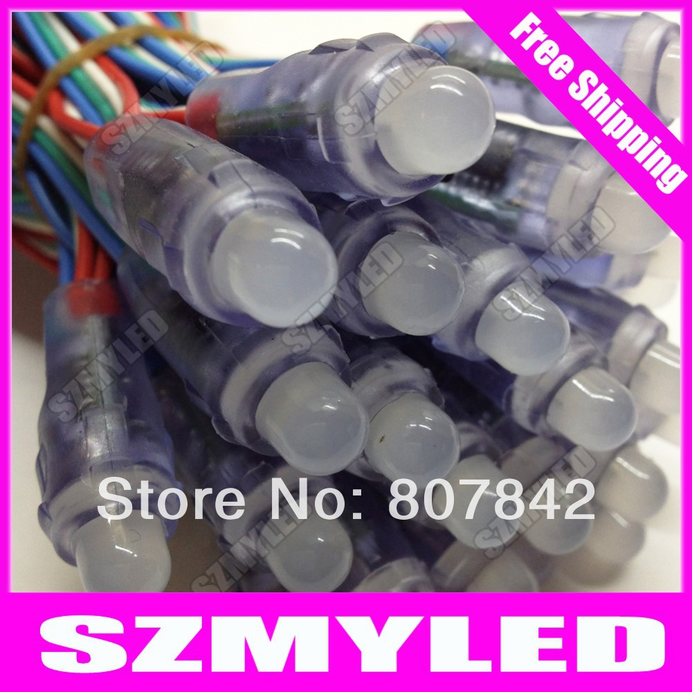 MIYOLE 50pcs/string WS2801 led pixel module led channel letter waterproof IP65 DC5V 12mm ws2801 led pixel string Free Shipping(China (Mainland))