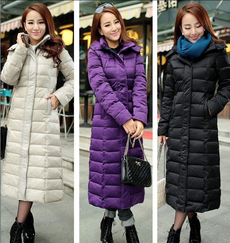 Images of Long Down Coats For Women - Reikian
