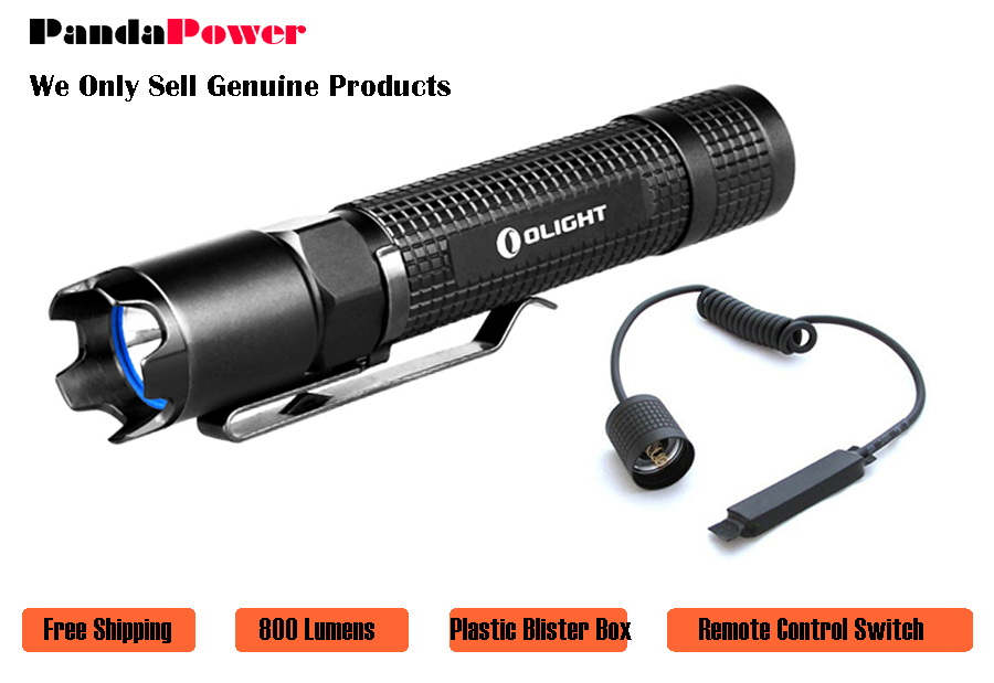 OLIGHT M18 Striker 800 Lumens Cree XM-L2 police LED Flashlight Dual switches with one free remote pressure switch(China (Mainland))