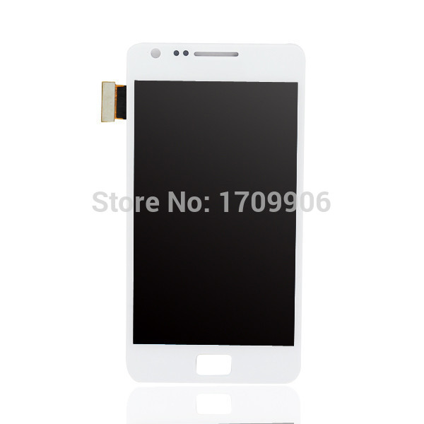 10pcs High Quality For Samsung Galaxy S2 i9100 LCD display Touch Screen Digitizer +frame Assembly ,White&black Free shipping !!!(China (Mainland))