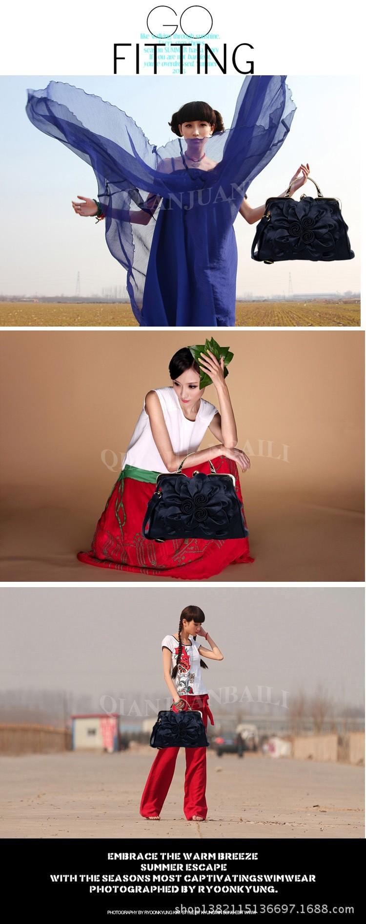 Jofeanay2017 new rose flower lady Shoulder Bag Handbag Lotus leaf bag MS bangalor party Ladies fashion handbag
