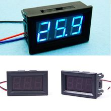 Hot DC 0-30V Blue LED 3-Digital Display Voltage Voltmeter Panel Motorcycle #1#55835