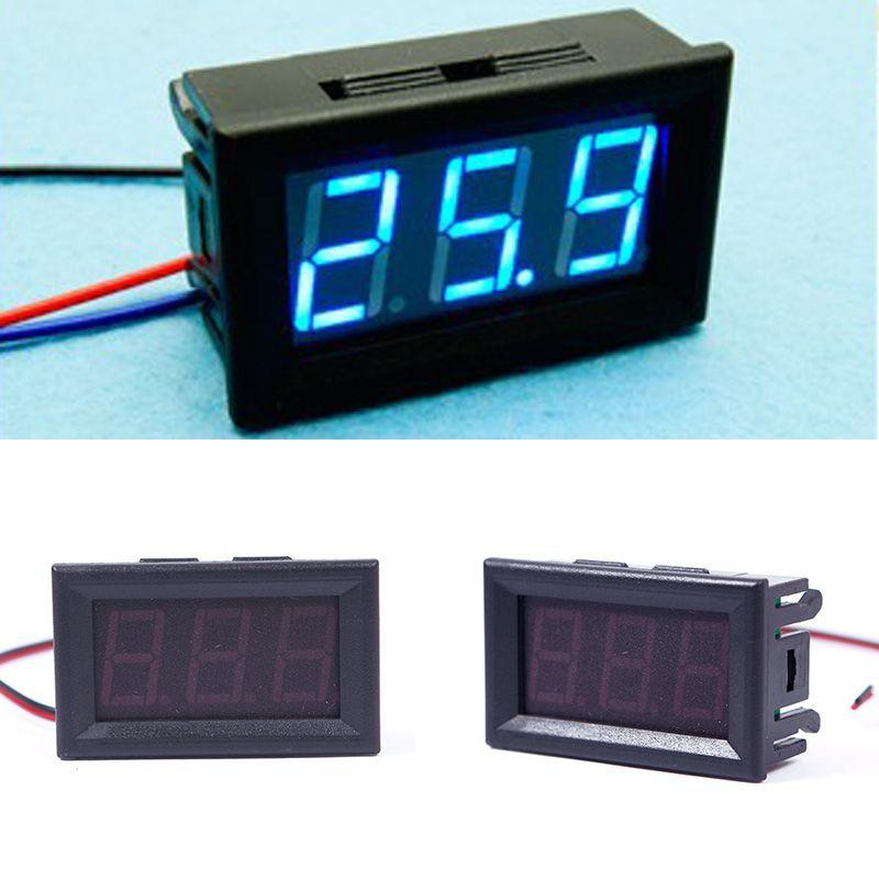 Hot DC 0-30V Blue LED 3-Digital Display Voltage Voltmeter Panel Motorcycle #1#55835(China (Mainland))
