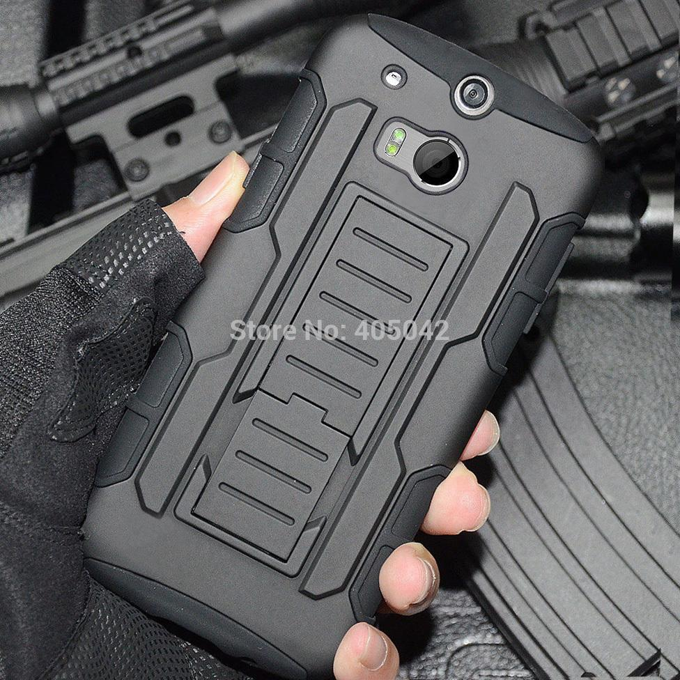 4in1 Protective Armor Impact Stand Hard Case Cover+Holster+FILM+STYLUS for HTC ONE 2 M8(China (Mainland))