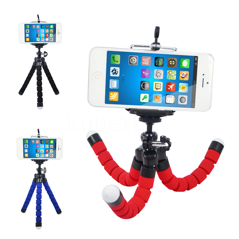 Flexible Octopus Tripod Stand Holder Bracket Selfi for Iphone Samsung Cell Phone for Gopro Hero 3 4 Xiaomi Yi Dslr Camera Mount(China (Mainland))