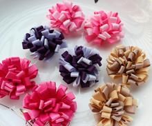 80pcs Hair Bow Loopy style,mix color Vintage flower Cheer~Dance~Birthday~Holiday~Recitals 3d flowers