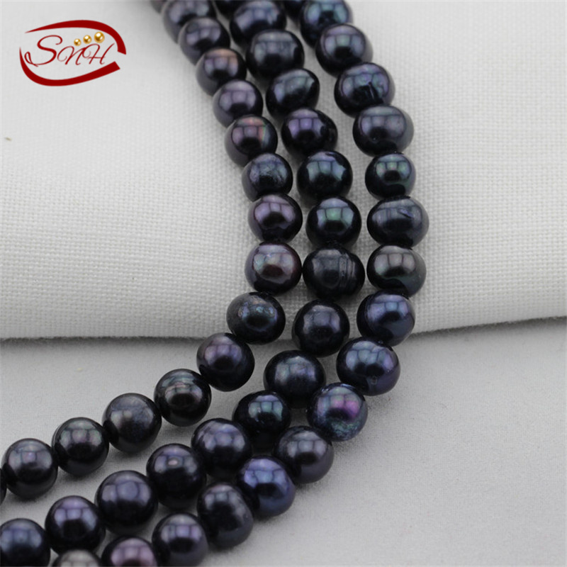 5 strands/package 8mm AA potato dyed peacock color real pearl strand<br><br>Aliexpress