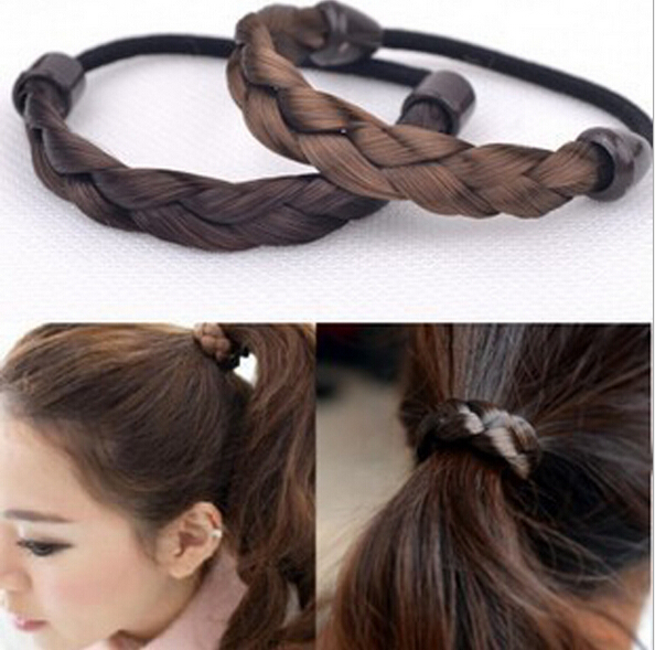 Beauty DIY Retail Black/Brown/Golden Wig Hair Band Elastic Pigtail Hair Ring Braid Maker Hair Jewelry(China (Mainland))