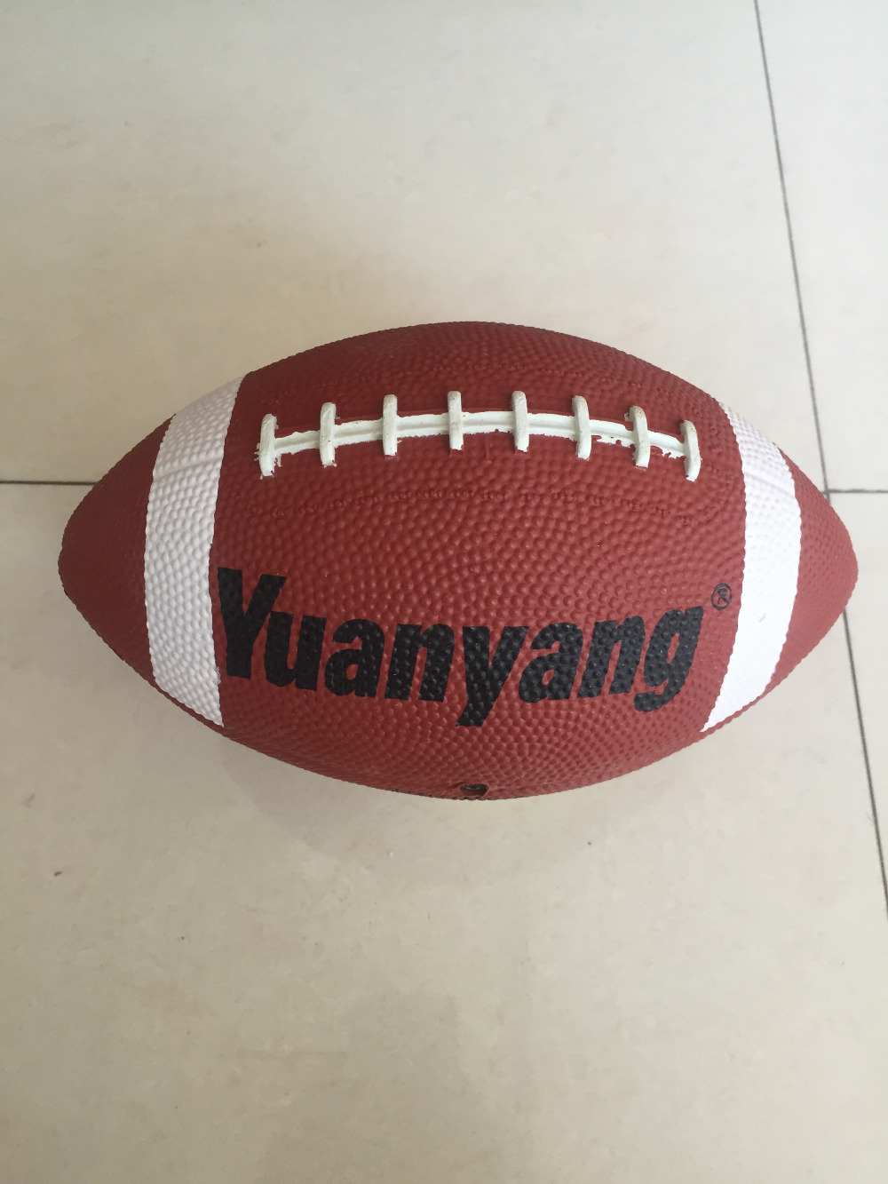 Hot Sale 2016 rubber Size 3 with logo Yuanyang For Match and Training Inflatable High Quality American Football Ball Rugby Ball(China (Mainland))
