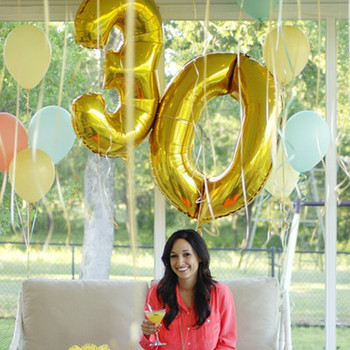 40 Inch 0-9 Gold Digital Balloon Foil Balloons Birthday Party Digit Decoration Wedding Event & Party Supplies