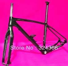 """FR-503 Full carbon UD Glossy MTB 650B 27.5ER mountain bike 27.5"""" Wheel frame (BSA)  +  fork  + Seatpost + Clamp + Cage(China (Mainland))"""