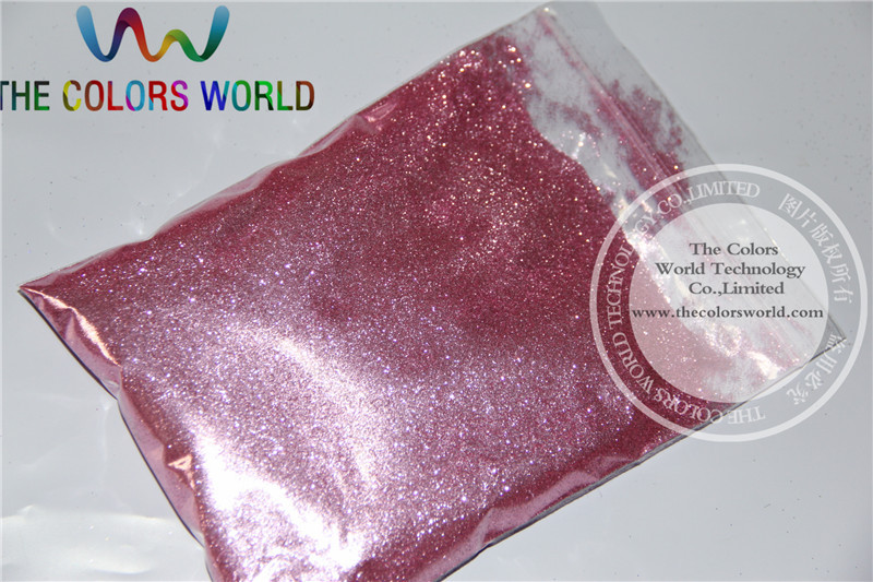 B0916 Carmine Pink Color Glitter powder -Size : 0.2MM(China (Mainland))