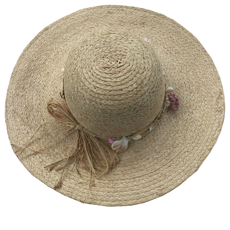 2016 raffia Straw Hats For Women's Female Summer Ladies Wide Brim Beach Hats Chapeau Large brim Sun Caps New Brand with shell(China (Mainland))