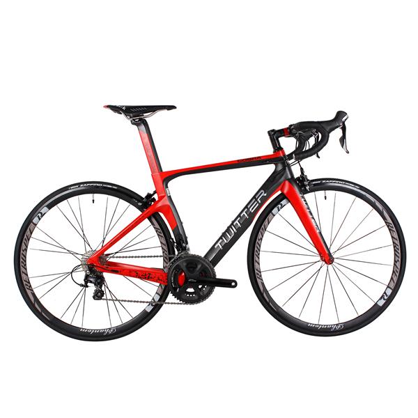 TWITTER Super Light Aero Carbon Fiber Break Wind Road Complete Bike Bicycle 22 Speed V brake 46CM/48CM/50CM(China (Mainland))