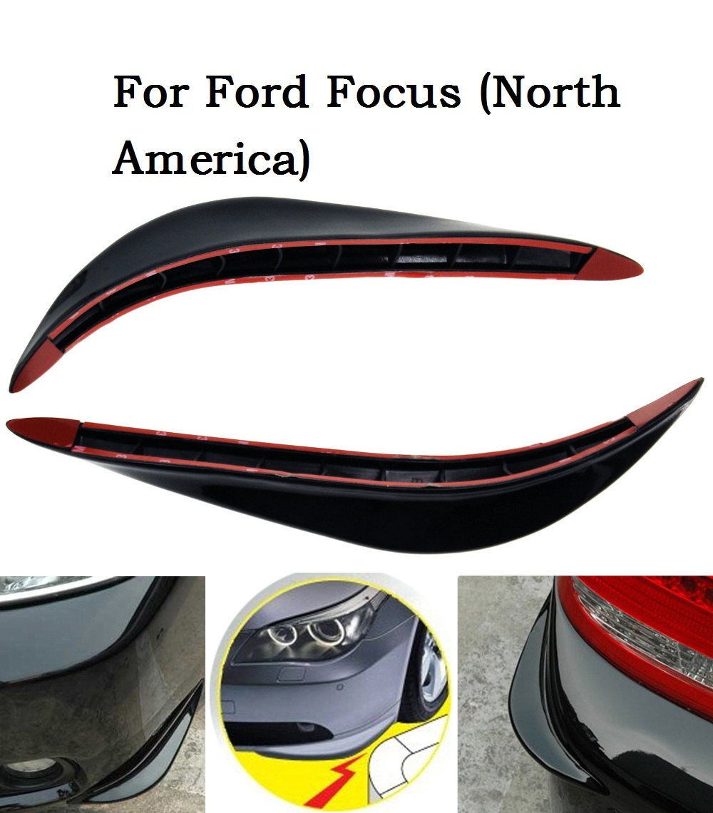 Car Accessories Black/white/silver/2Pcs ABS Front + Rear Bumper Protector Guard Crash Bar for Ford Focus (North America)(China (Mainland))
