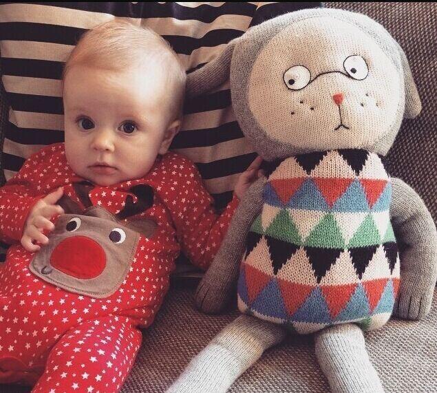 Denmark Lucky Boy Sunday Hand Knit Soft Cute Fancy Stuffed Animals Doll Plush Toy Gift for Baby Birthday Gift 70cm(China (Mainland))