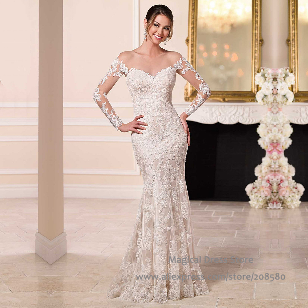 Buy Dantel Gelinlik Women Lace Mermaid Wedding Dress Off The