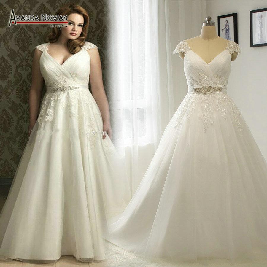 Plus la taille de mariage robe promotion achetez des plus for Plus la taille seconde robes de mariage