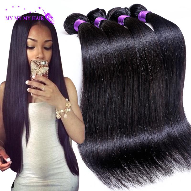 7A Grade Brazilian Virgin Hair Straight 4 Bundles Unprocessed Virgin Brazilian Straight Hair Weave Bundles Human Hair Extensions(China (Mainland))