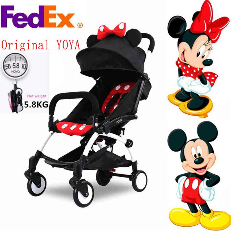 100% ORIGINAL YOYA Baby Stroller Travel Portable Folding Baby Stroller For Children Buggy Car Carriage Babyzen Yoyo Stroller(China (Mainland))