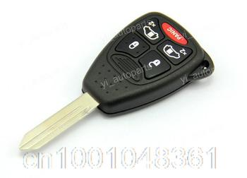 Uncut Blade Blank Key Remote Shell Case Keyless Fob Cover For Chrysler Sebring Aspen Dodge Jeep 5 Buttons