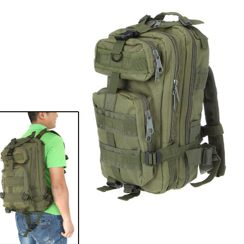 AUAU  30L Nylon Outdoor Sport Military Tactical Backpack Rucksacks Camping Hiking Trekking Bag Army Green<br><br>Aliexpress