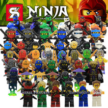 Newest Arrival SY285 Ninja Kai Jay Zane Cole Lloyd Ninja With Weapon Minifigure Building Block Figures Toys Collection Brick(China (Mainland))