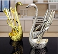 Hot Sale Creative Kitchen Accessories Spoon Rest Swan Design Stainless Steel Fork Holder Spoon Storage Free