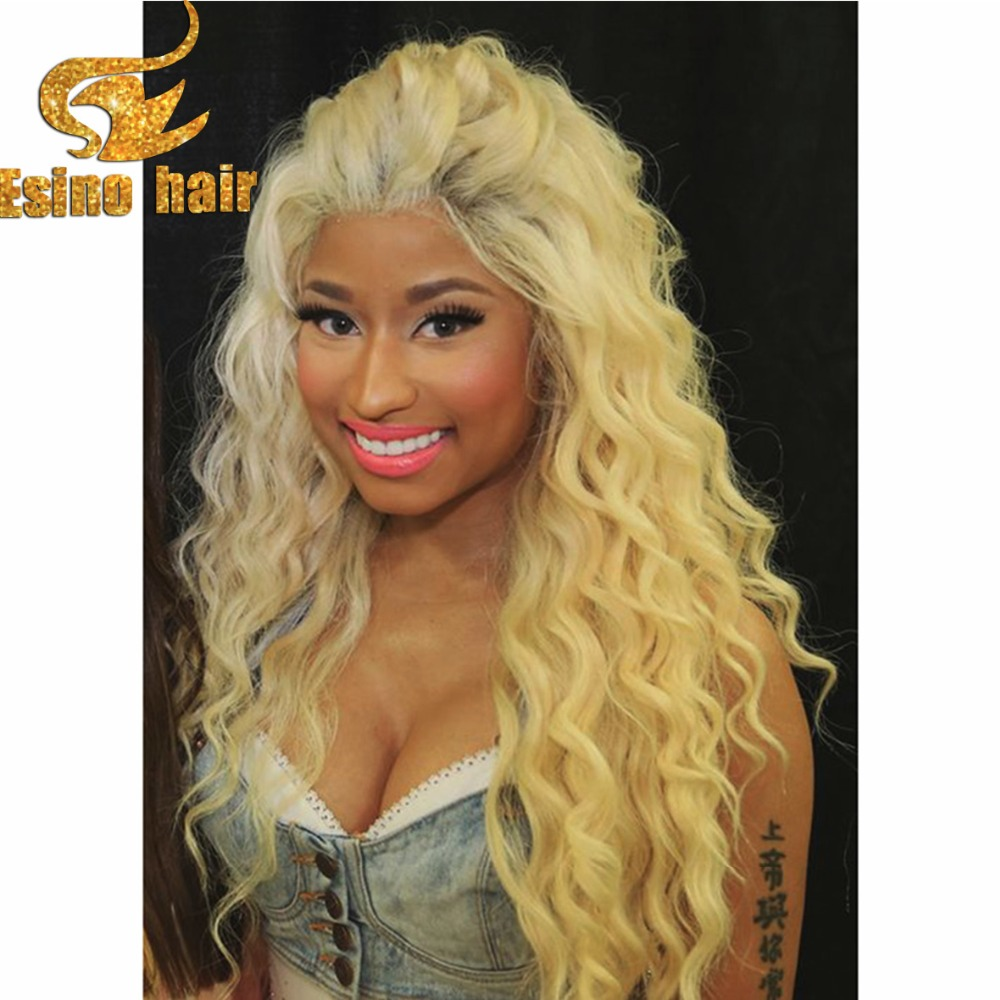 Full Lace Human Hair Wigs Blonde White Wigs Online