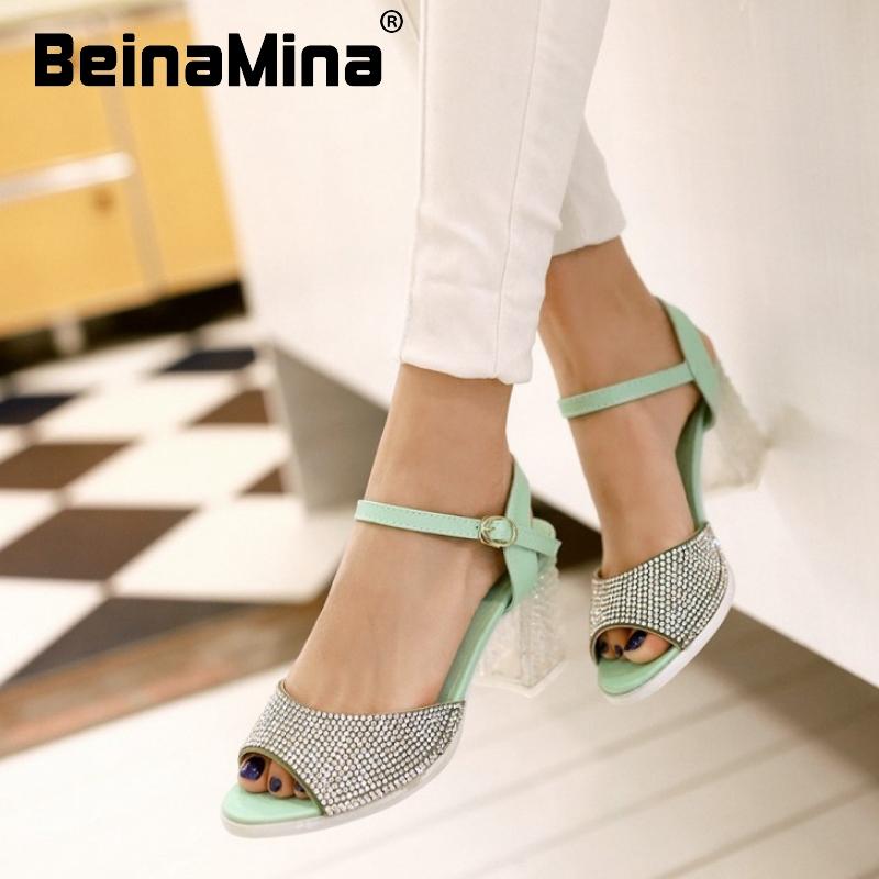 women ankle strap stiletto high heel sandals rhinestone brand sexy fashion ladies heeled footwear heels shoes size 34-39 P17346<br><br>Aliexpress