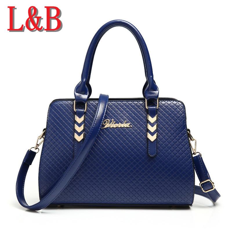 2015 New Fashion Brand Design Women Leather Handbags High Quality Ladies Handbag Lattice Pattern Retro Sac Femme Tote Clutch Bag<br><br>Aliexpress