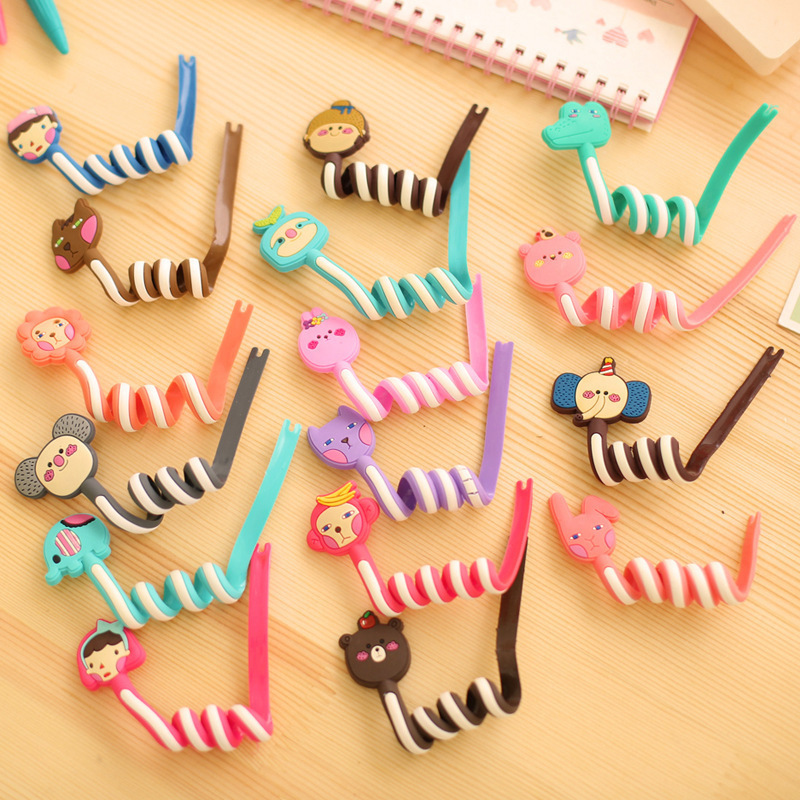 Lovely Cartoon animal bobbin winder ear mechanism storage line hub multi-function Cables to receive Bag clip(China (Mainland))