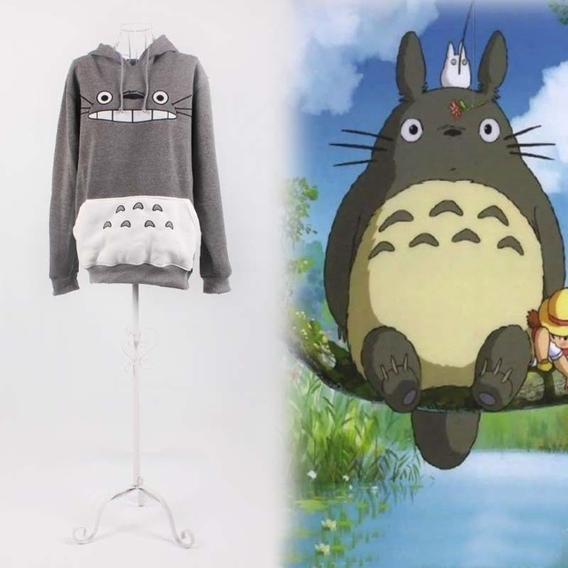 Foreign trade Hayao Miyazaki Totoro thick winter Закрытый pullover Верхs students ...