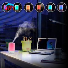 Ultra-Quiet Mini Color Changeable LED Light Household Air Purifier Aroma Essential Oil Moisture Skin Health Bar Air Humidifier(China (Mainland))