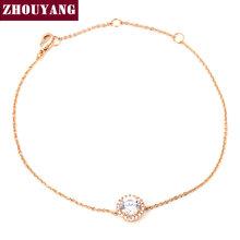 Round Micro Mosaic CZ Diamond 18K Rose/White Gold Plated Bracelet Jewelry Austrian Crystal Top Quality Wholesale ZYH165 ZYH101(China (Mainland))