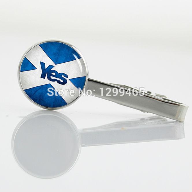 Vintage Scottish flag tie tacks Decoration Scottish Independence Yes Tie Clip Retro blue and white Lattice Tie Clip T 790(China (Mainland))