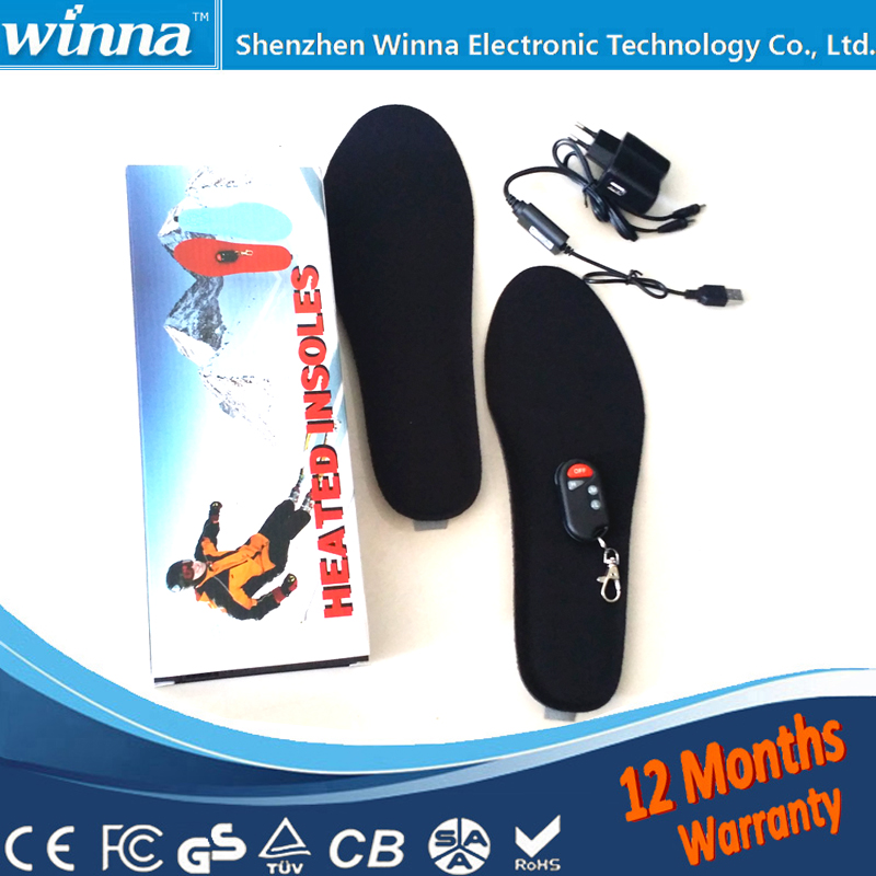 Electrically Heated Foot Pads for Winter Boots BLACK RED Women 35-40 FREE SHIPPING(China (Mainland))