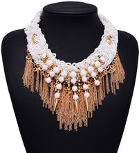 2015 New Arrival XG125 Vintage Necklaces Pendants Women Long Gold And Silver Tassel Statement Necklace Gothic