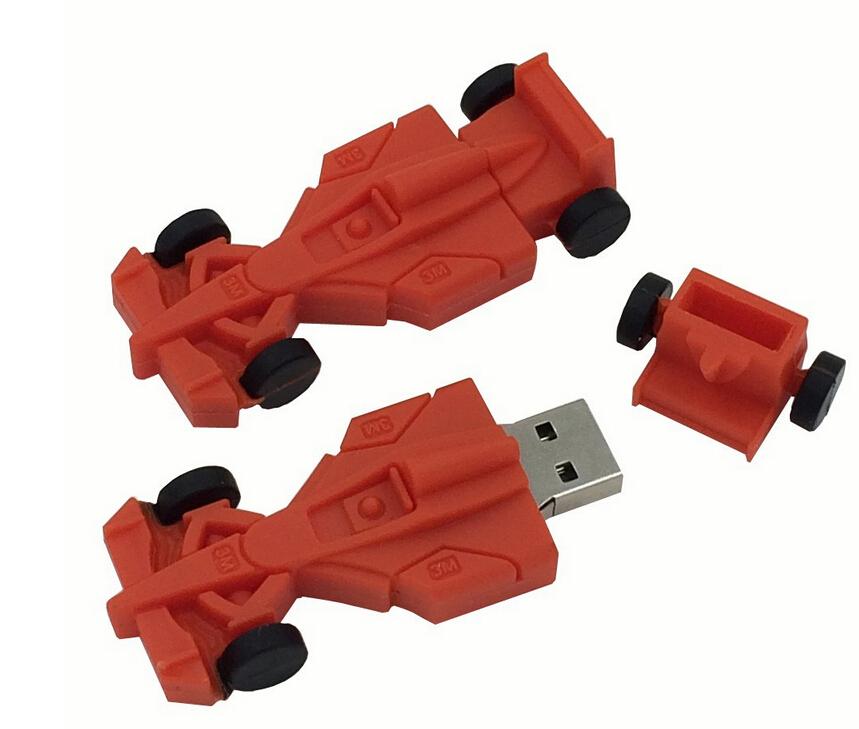 Hot Silicone Pendrive Racing Car USB Flash Drive Mini USB Key Flash Pen Drive Gift USB Flash Memory Stick 32GB 16GB 8GB 4GB(China (Mainland))