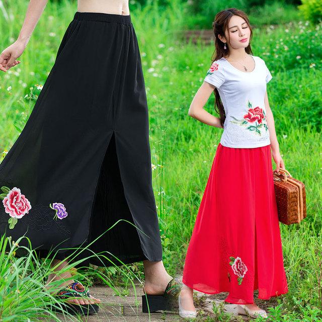 Традиционный Китайский одежда 2016 женщины брюки женский осень этническая винтаж ...