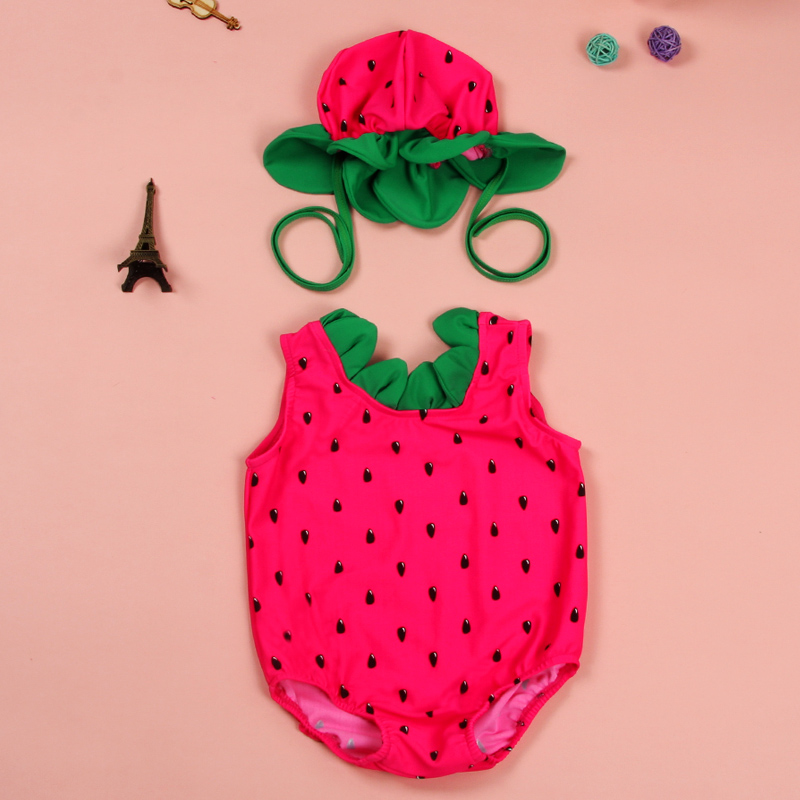 watermelon bathing suit baby
