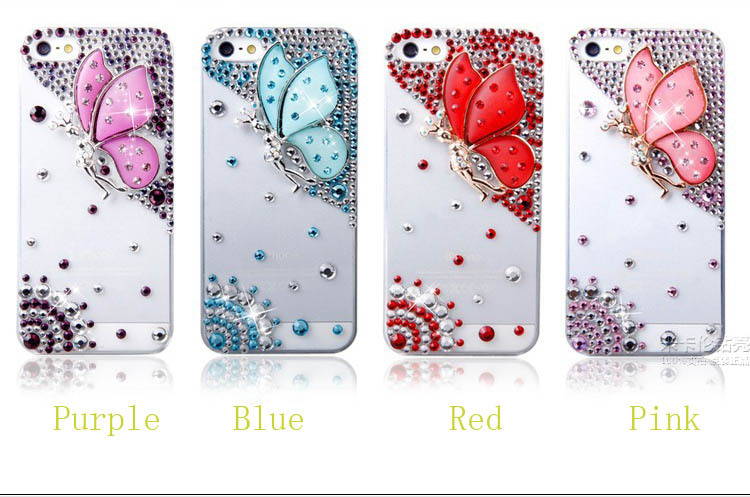 New Arrival Crystal Diamond Hard Back Skin Mobile phone Case Protective Shell Rhinestone Case For Apple Iphone 5 5s(China (Mainland))
