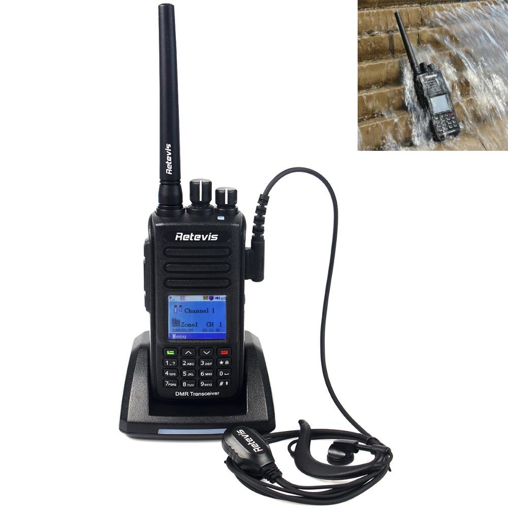DMR Radio Retevis RT8 IP67 Waterproof Walkie Talkie UHF 400-480Mhz 5W 1000CH Digital/Analog Mode Hf Transceiver Ham Radio A9115A(China (Mainland))
