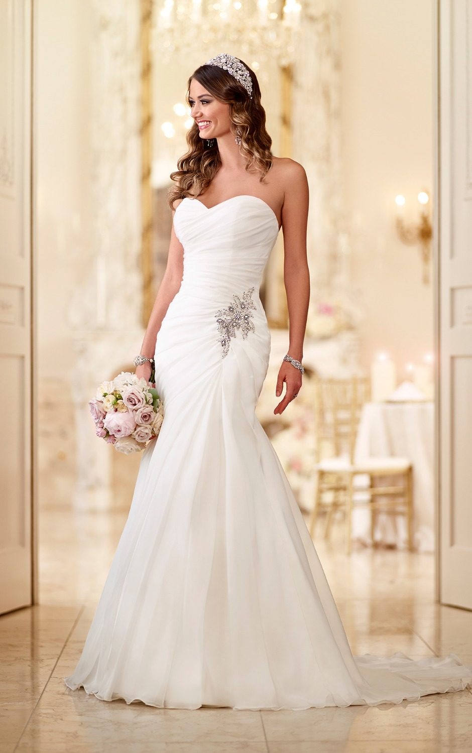 Backless Mermaid Wedding Dresses with Crystals | Dress images