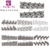 Wholesale 42 Different Design 1000 Sheet/set Water Decal Black Hollow French Nail Sticker Nail Supplies+Individually Package