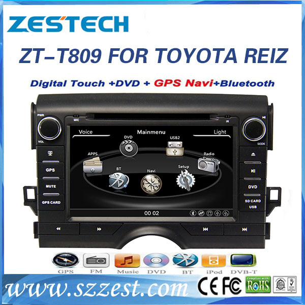 CE certification and 8 inch 2 din Car audio for TOYOTA REIZ auto parts with GPS Navigation(China (Mainland))